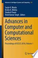 Advances in Computer and Computational Sciences Book