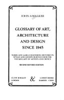 Glossary of Art  Architecture  and Design Since 1945