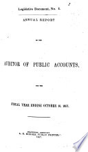 Annual Report of the Auditor of Public Accounts for the Year Ending