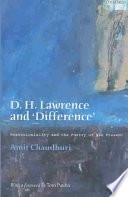D.H. Lawrence and 'difference'