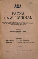 The Patna Law Journal