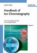 Handbook Of Ion Chromatography Book PDF