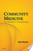Community Medicine  Prep Manual for Undergraduates   E Book
