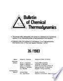 Bulletin of Chemical Thermodynamics