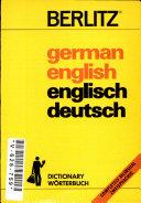 DICTIONNAIRE GERMAN ENGLISH ENGLISH GERMAN ET DEUTSCH ENGLISCH ENGLISCH DEUTSCH