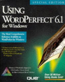 Pdf Using WordPerfect 6.1 for Windows, Special Edition