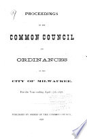 Proceedings of the Common Council of the City of Milwaukee