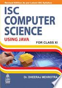 ISC Computer Sciencefor Class 11