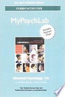 NEW MyPsychLab with Pearson EText Standalone Access Card for Abnormal Psychology