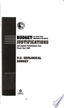 Department Of The Interior And Related Agencies Appropriations For 2001 Justification Of The Budget Estimates U G Geological Survey Book PDF