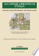 Accademie & Biblioteche d'Italia 3-4/2013