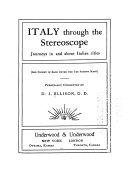 Italy Through the Stereoscope