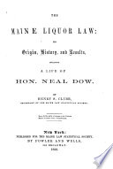 The Maine Liquor Law