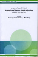 Advising on research methods: proceedings of the 2007 KNAW ...