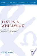 Text In A Whirlwind