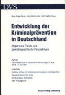 Entwicklung der Kriminalprävention in Deutschland