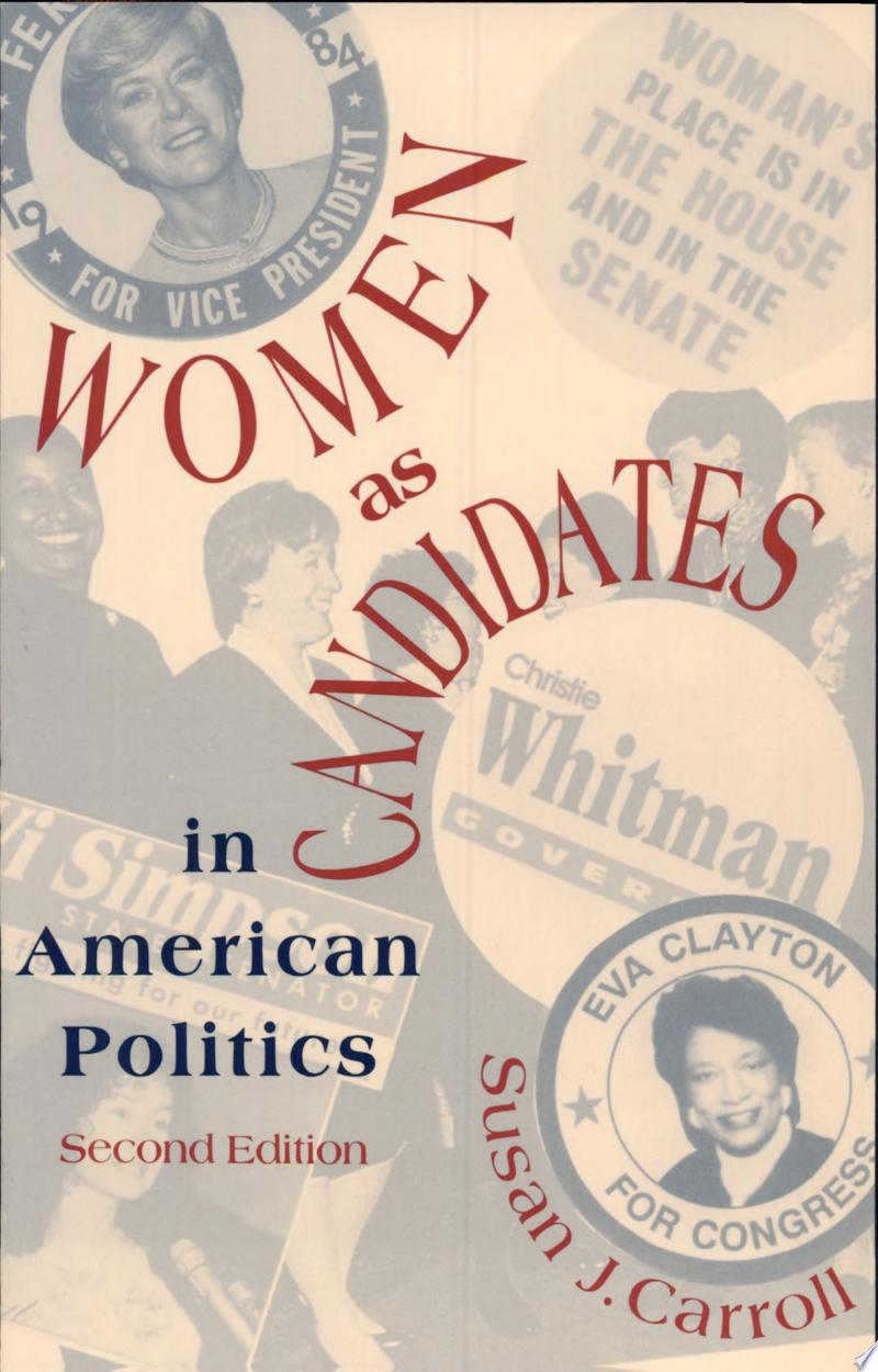 Women as Candidates in American Politics banner backdrop