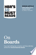 HBR's 10 Must Reads on Boards