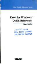 Excel for Windows Quick Reference