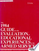 The 1980 Guide to the Evaluation of Educational Experiences in the Armed Services: Army