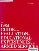The 1980 Guide to the Evaluation of Educational Experiences in the Armed Services  Army