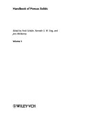 Handbook Of Porous Solids Book PDF