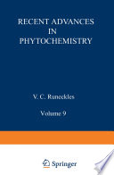 Recent Advances in Phytochemistry Book