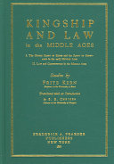 Kingship and Law in the Middle Ages ebook