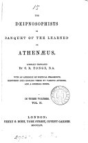 Pdf The Deipnosophists, Or, Banquet of the Learned of Athenaeus