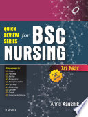 Quick Review Series for B Sc  Nursing  1st Year   E Book