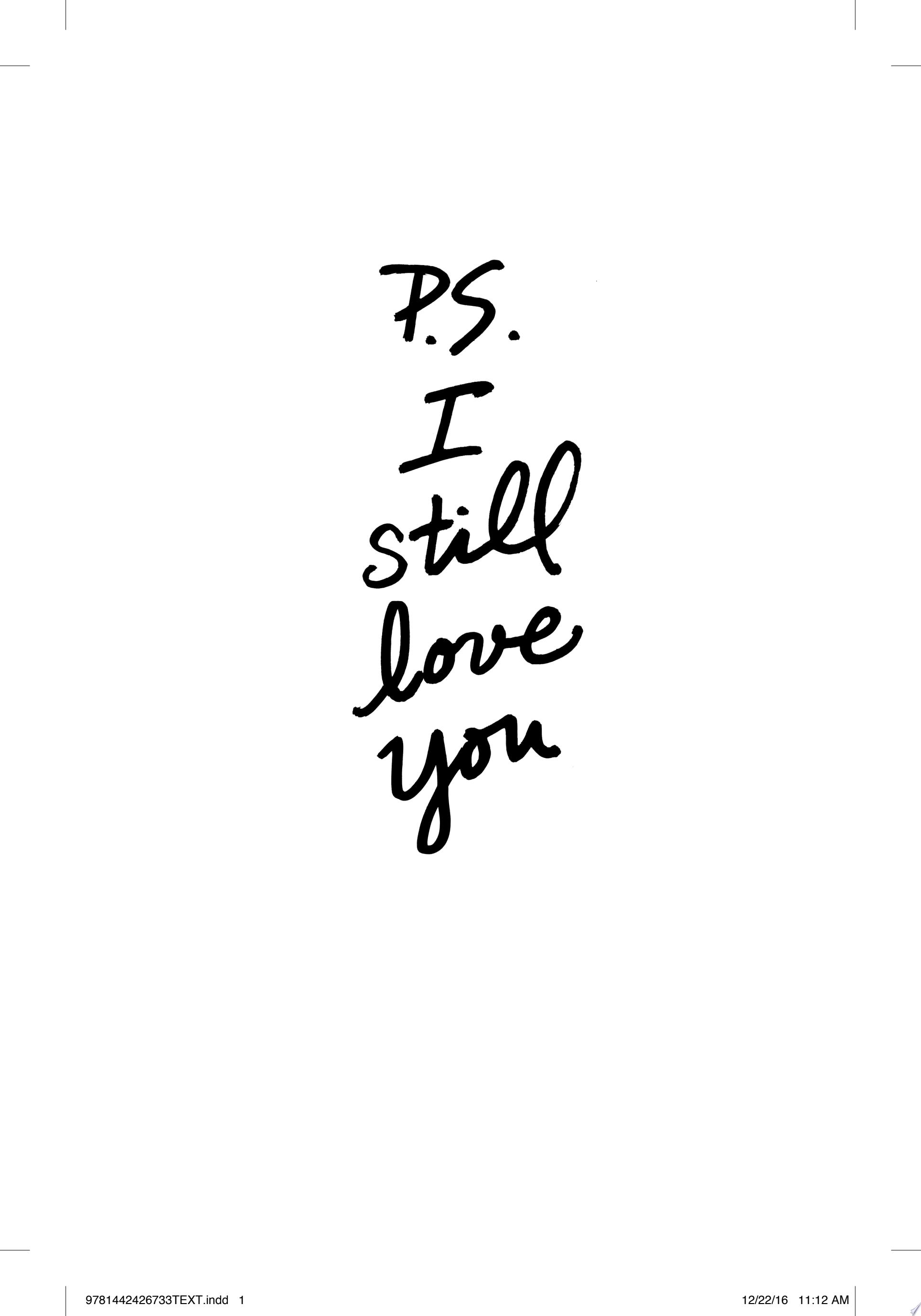 P S  I Still Love You