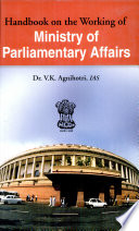 Handbook on the Working of Ministry of Parliamentary Affairs