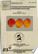 Postharvest Handling Systems Perishable Food Crops Number 1 Mango Book PDF