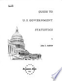 Guide To U S Government Statistics