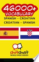 46000  Spanish   Croatian Croatian   Spanish Vocabulary Book