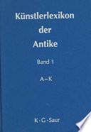 Künstlerlexikon der Antike  , Band 2