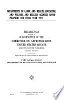 Departments Of Labor And Health Education And Welfare And Related Agencies Appropriations For Fiscal Year 1977