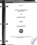 Sailing Directions (enroute) for Scotland