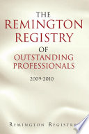 The Remington Registry of Outstanding Professionals Book