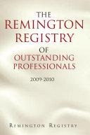 The Remington Registry of Outstanding Professionals [Pdf/ePub] eBook