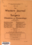 Western Journal of Surgery  Obstetrics and Gynecology