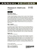 Annual Editions  Research Methods Book