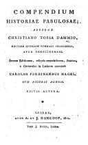 Einleitung in die Götterlehre. Compendium historiae fabulosae ... In Latinum convertit Carolus Ferdinandus Nagel ... Editio altera