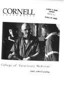 College of Veterinary Medicine  Cornell University