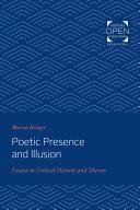 Poetic Presence and Illusion Pdf/ePub eBook