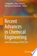 Recent Advances in Chemical Engineering
