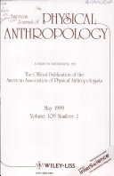 American Journal Of Physical Anthropology Book PDF