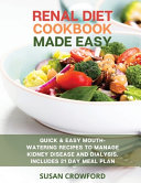 Renal Diet Cookbook Made Easy