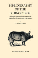 Pdf Bibliography of the Rhinoceros Telecharger