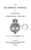 The Quarterly Journal of Science  Literature and Art